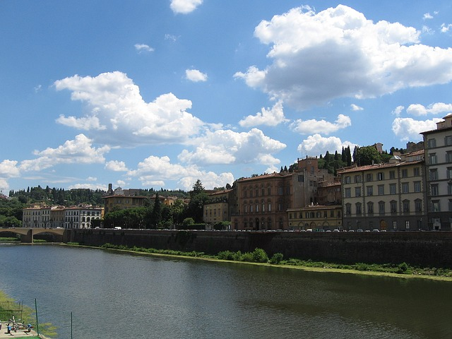 Arno river fishing florence